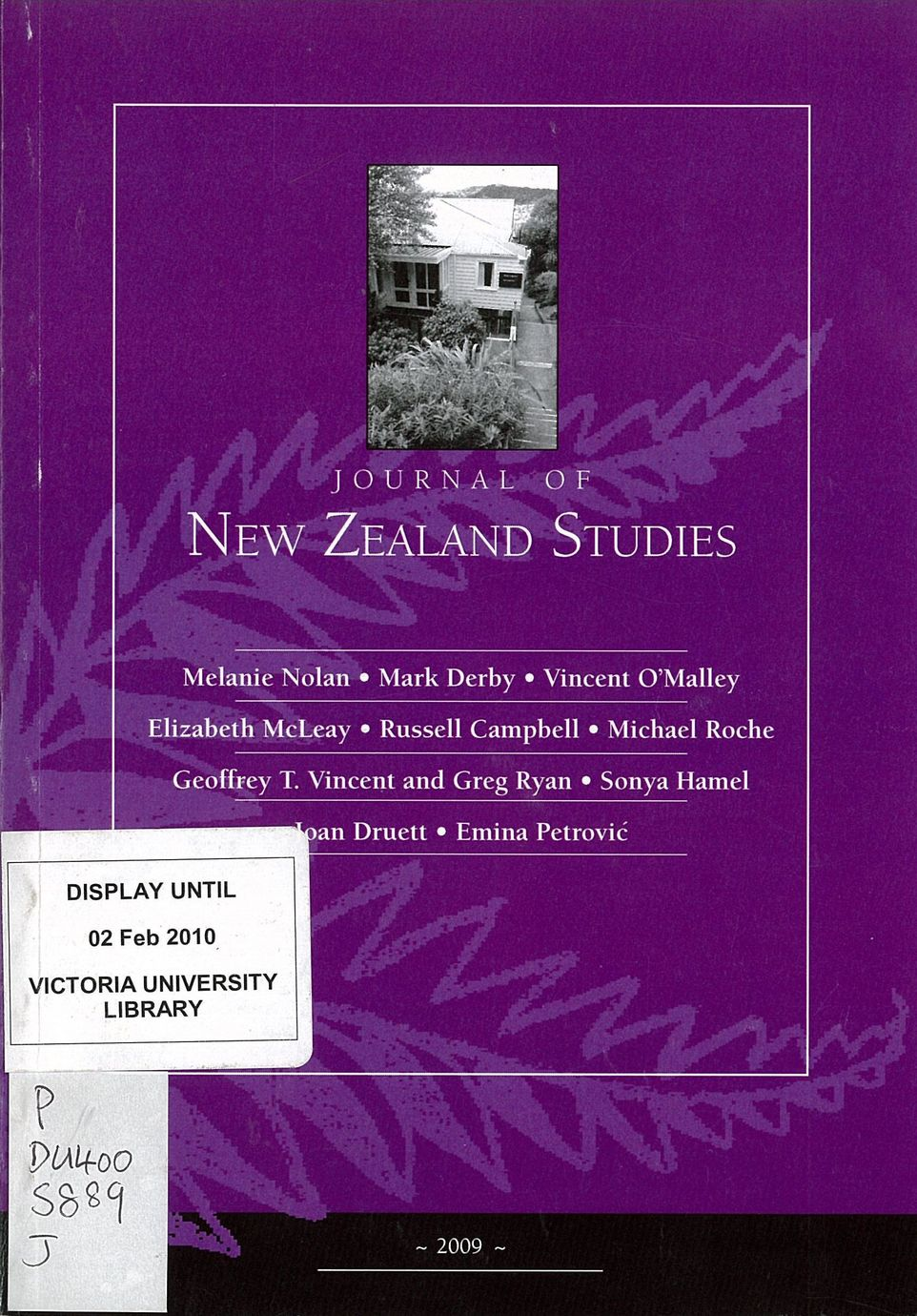 Journal of New Zealand Studies 2009 No. 8