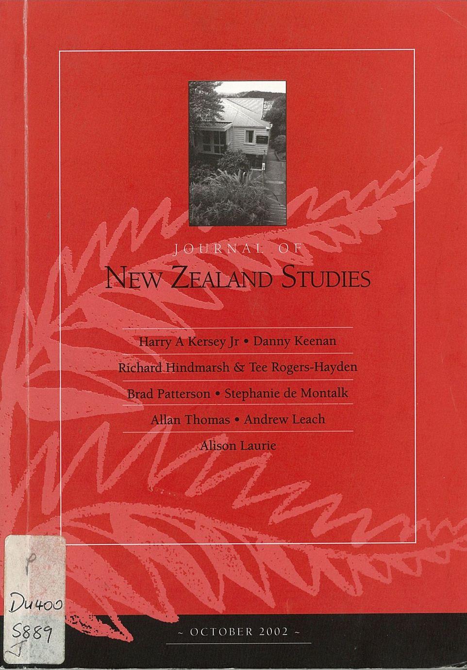 Journal of New Zealand Studies 2002 NS1
