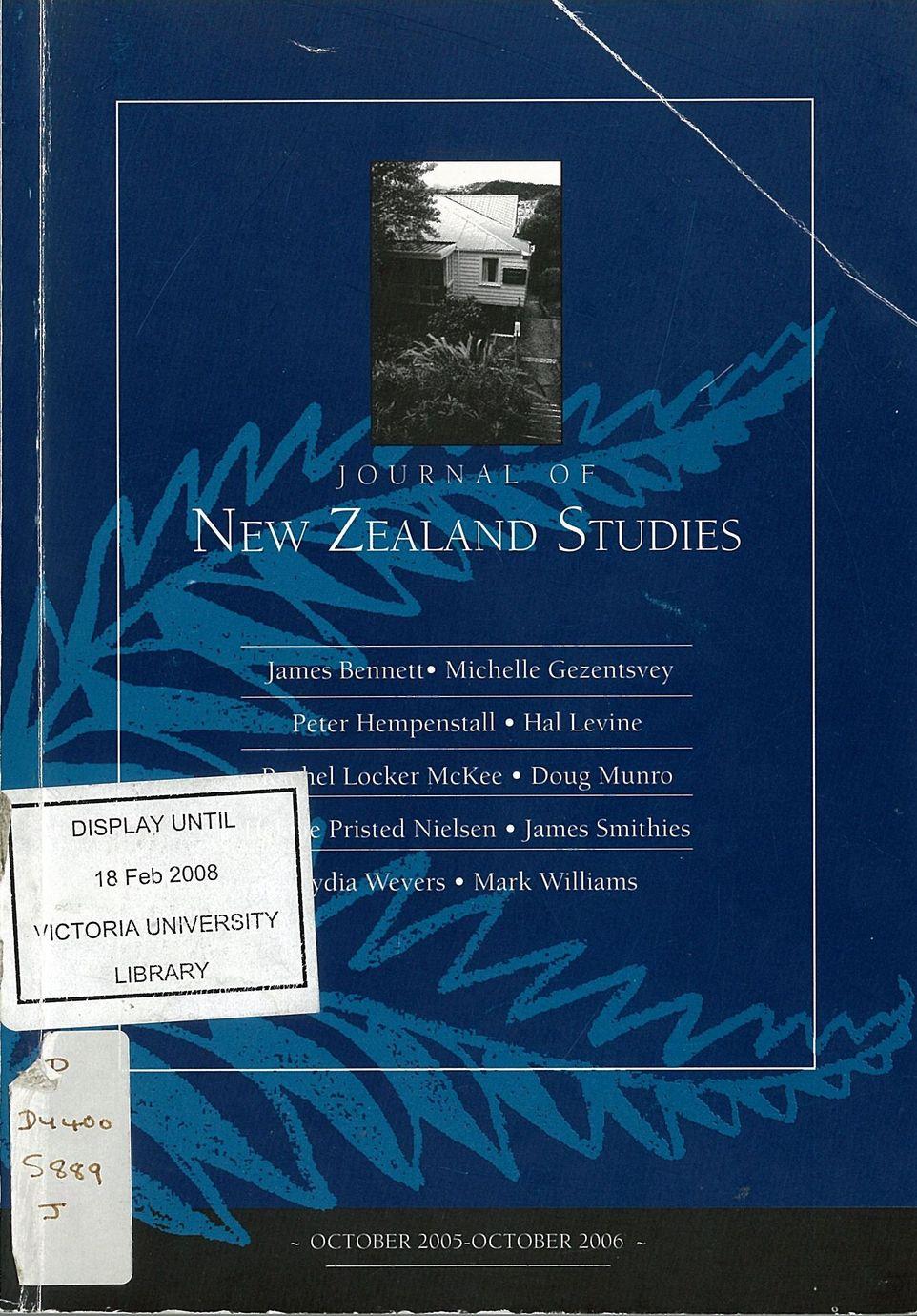 Journal of New Zealand Studies 2006 No. 4/5