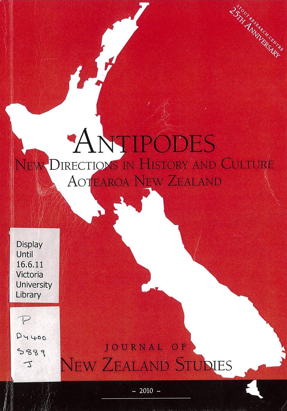 Journal of New Zealand Studies 2010 No. 9