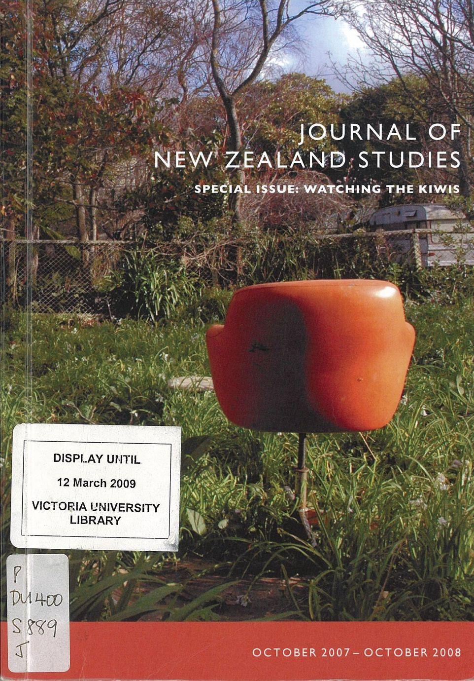 Journal of New Zealand Studies 2009 No. 8