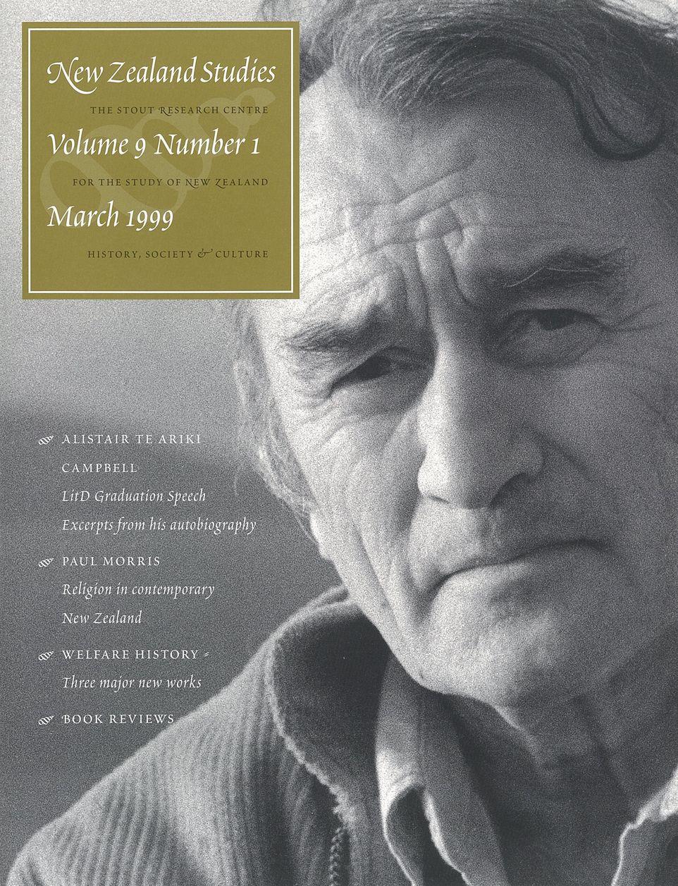 New Zealand Studies 1999 Vol.9 No.1
