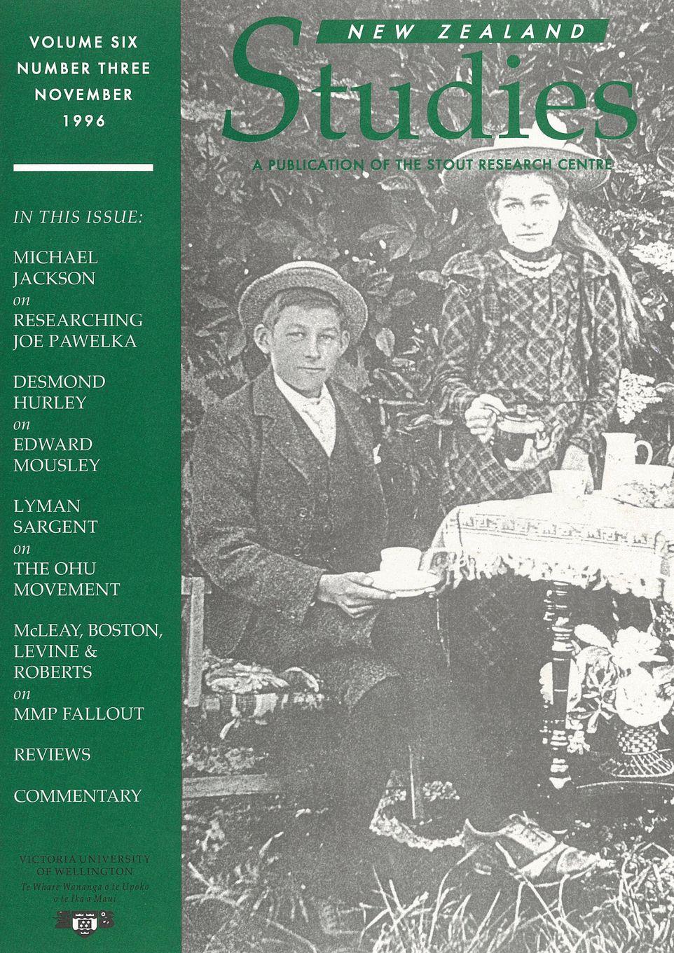 New Zealand Studies 1996 Vol.6 No.3