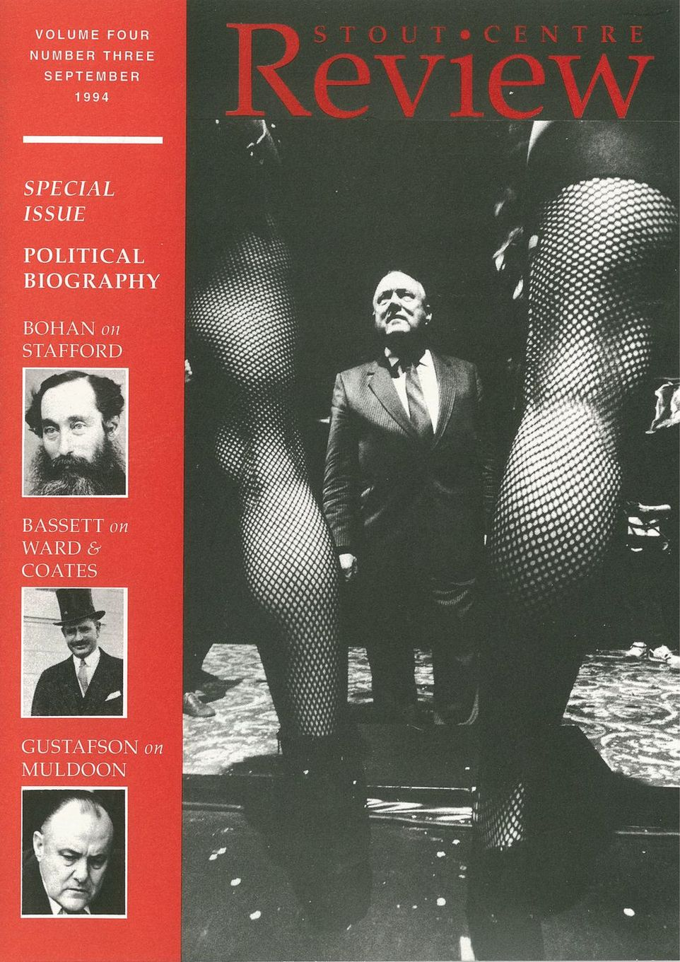 Cover of Stout Centre Review, 1994, V. 4, N. 3.
