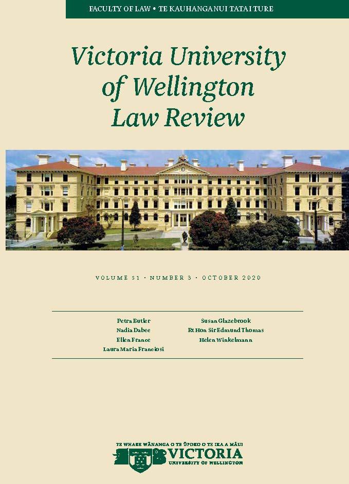 View Vol. 51 No. 3 (2020): Victoria University of Wellington Law Review
