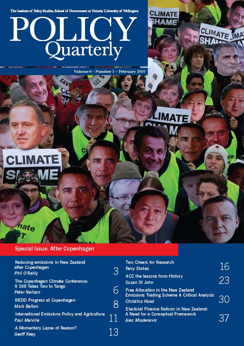 Policy Quarterly volume 6 number 1 2010