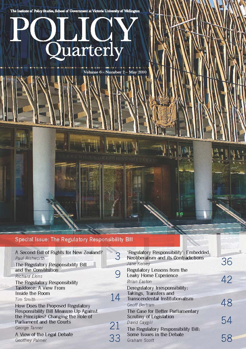 Policy Quarterly volume 6 number 2 2010