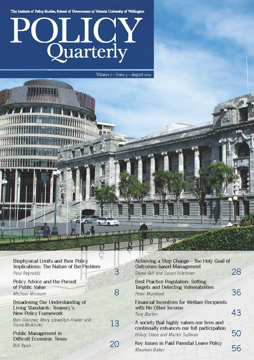 Policy Quarterly volume 7 number 3 2011