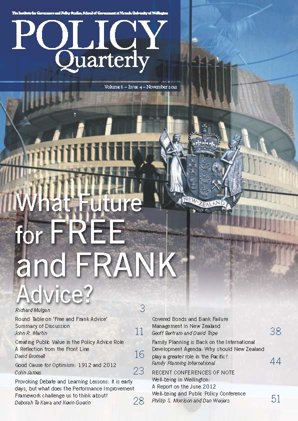 Policy Quarterly volume 8 number 4 2012