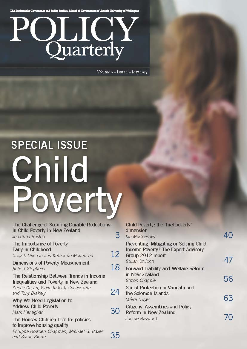 Policy Quarterly volume 9 number 2 2013