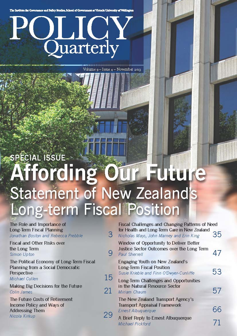 Policy Quarterly volume 9 number 4 2013