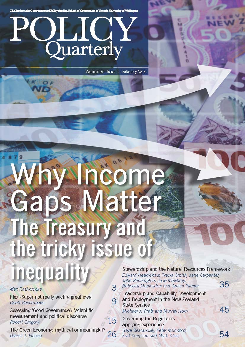 Policy Quarterly volume 10 number 1 2014