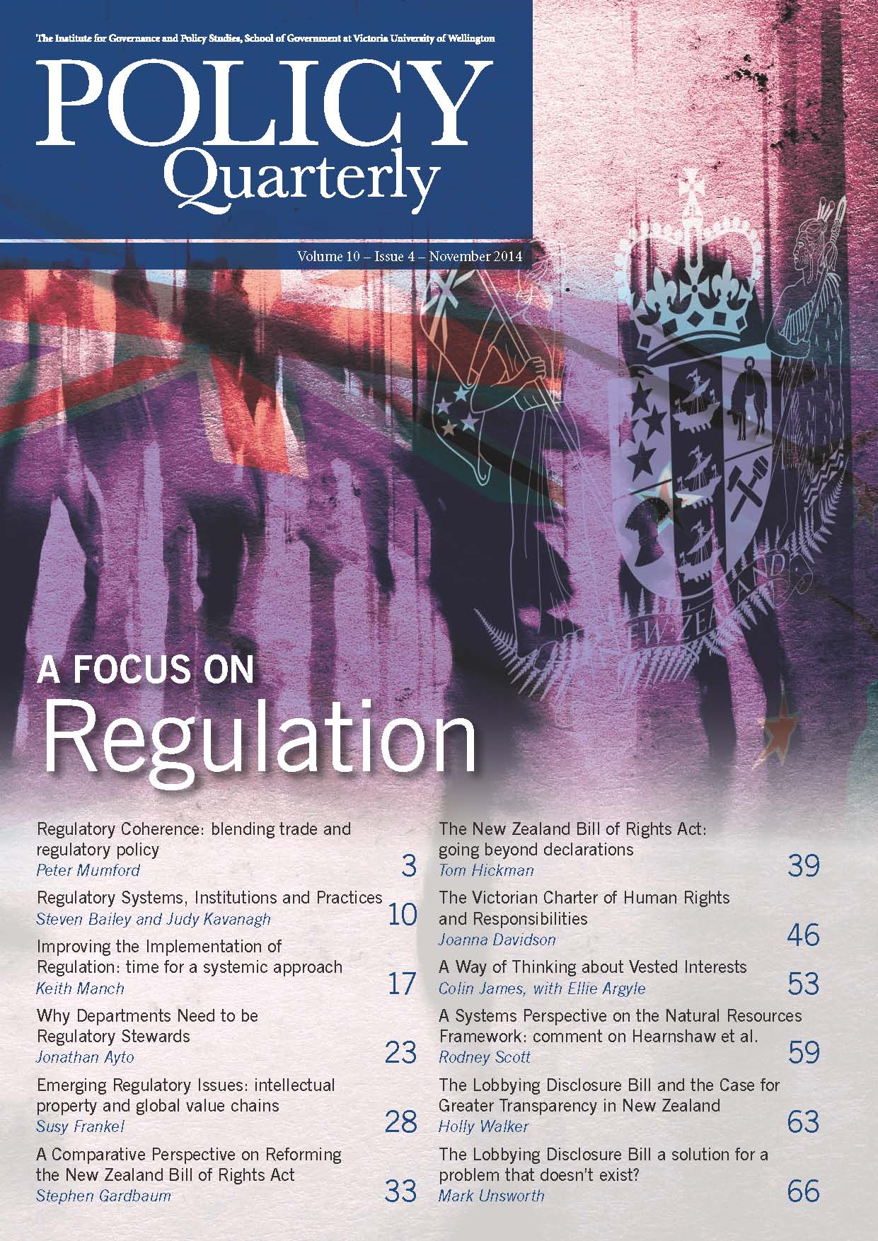 Policy Quarterly volume 10 number 4 2014