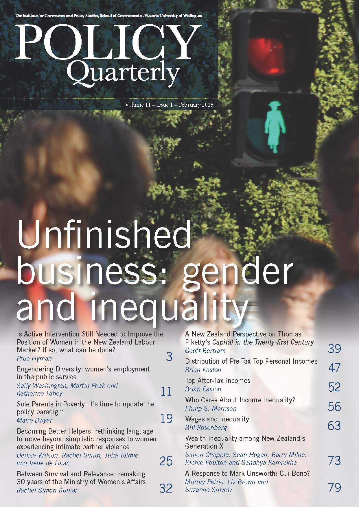 Policy Quarterly volume 11 issue 1 2015