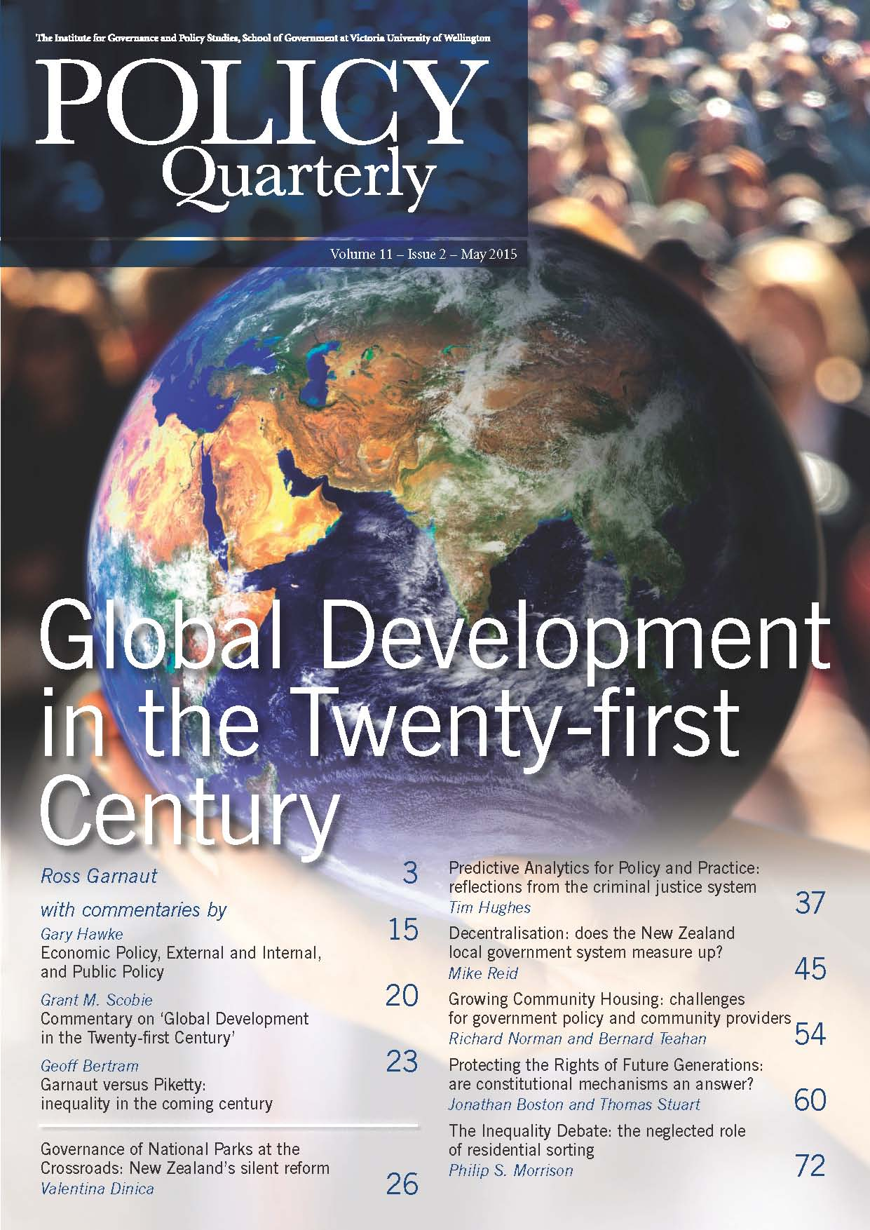 Policy Quarterly volume 11 issue 2 2015
