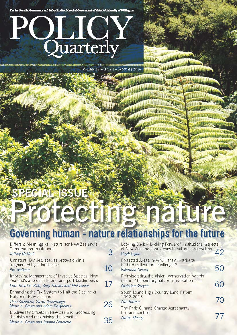 Policy Quarterly volume 12 issue 1 2016