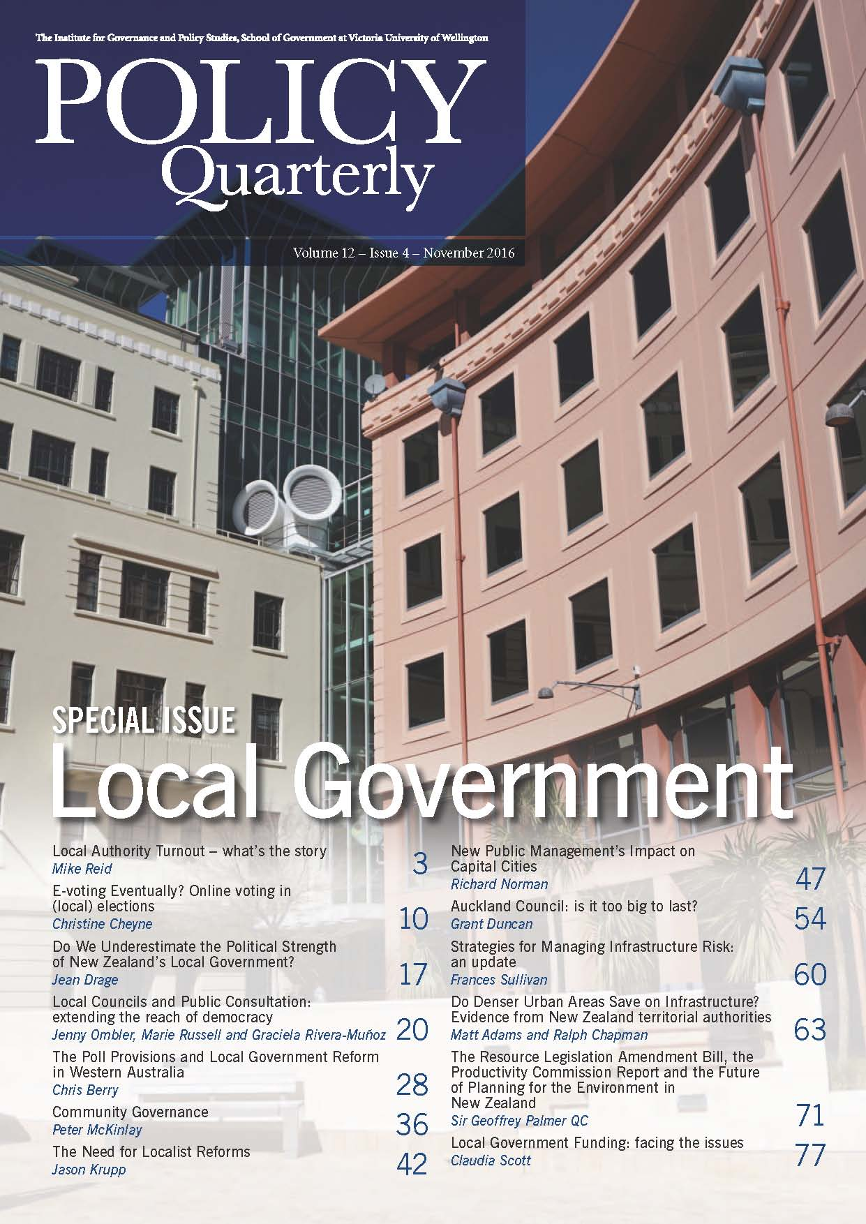 Policy Quarterly volume 12 issue 4 2016