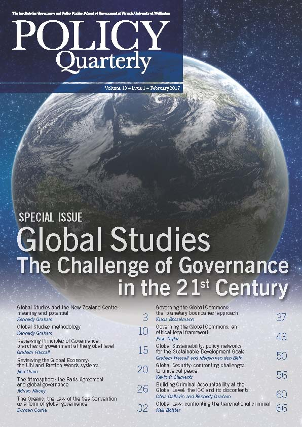 Policy Quarterly volume 13 issue 1 2017