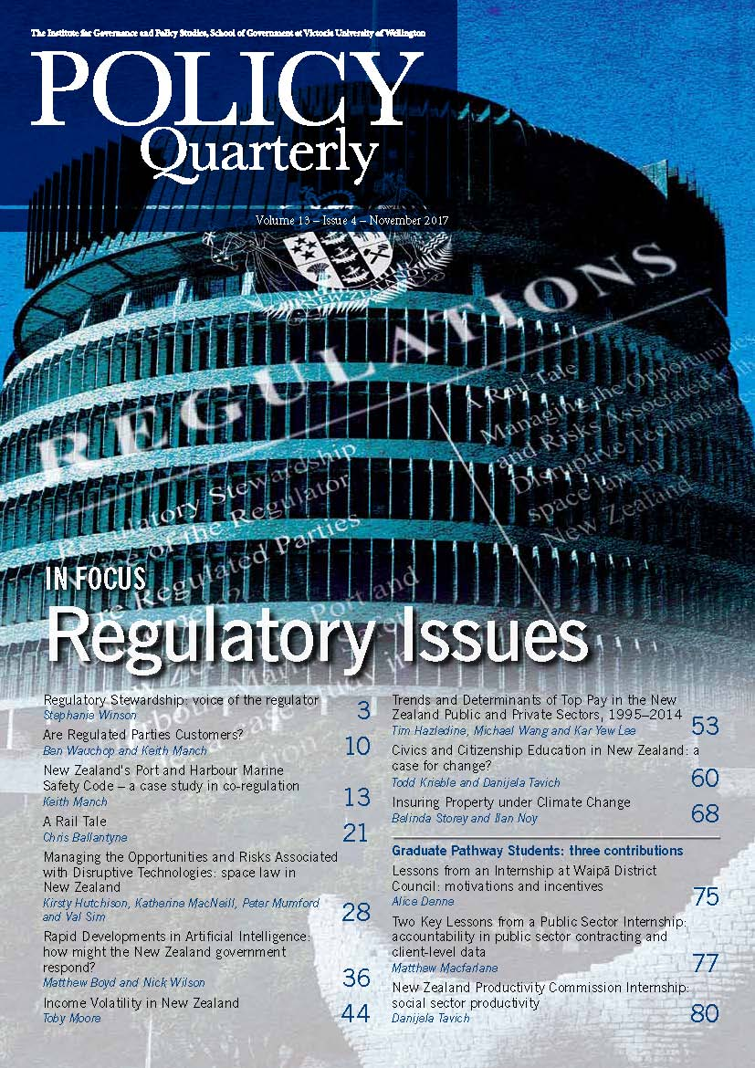 Policy Quarterly volume 13 issue 4 2017