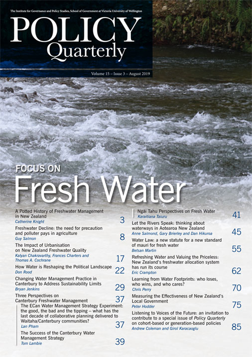 View Vol. 15 No. 3 (2019): Special Issue: Focus on Fresh Water
