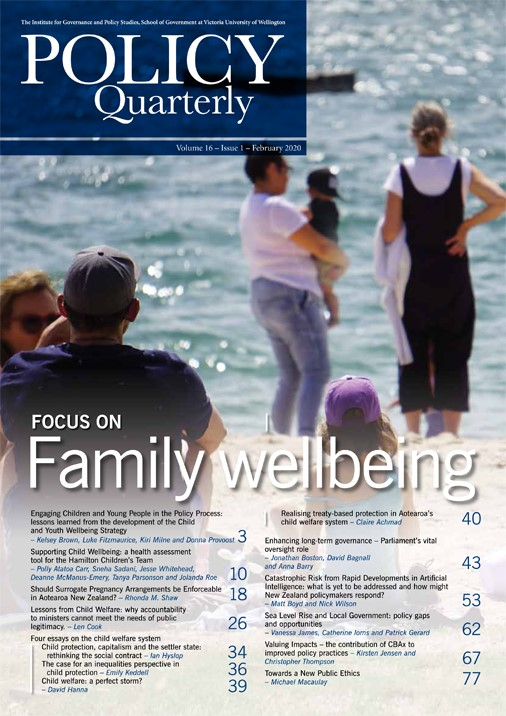 View Vol. 16 No. 1 (2020): Focus On Family Wellbeing