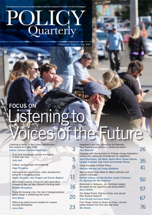 View Vol. 16 No. 2 (2020): Listening to Voices of the Future