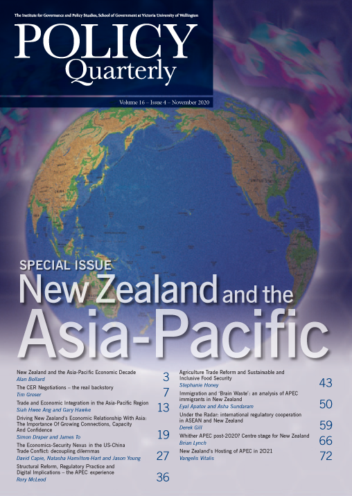 View Vol. 16 No. 4 (2020): New Zealand and the Asia-Pacific